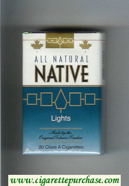 Discount Native All Natural Lights cigarettes soft box