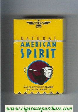 Discount Natural American Spirit Light yellow cigarettes hard box