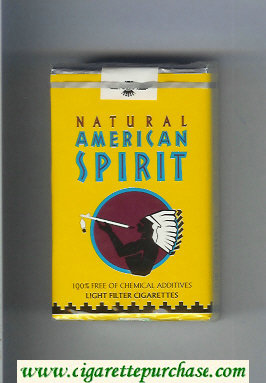 Discount Natural American Spirit Light yellow cigarettes soft box