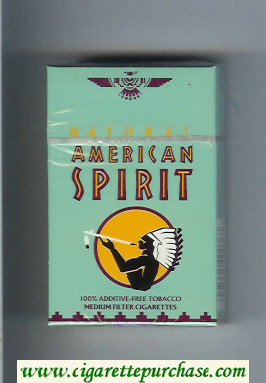 Discount Natural American Spirit Medium grey cigarettes hard box