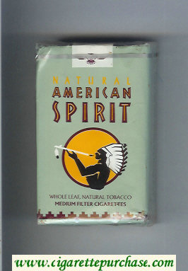 Discount Natural American Spirit Medium grey cigarettes soft box