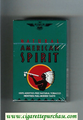 Discount Natural American Spirit Menthol Full-Bodied Taste green cigarettes hard box