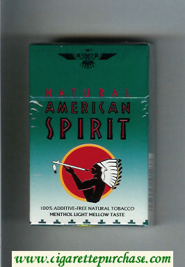 Discount Natural American Spirit Menthol Light Mellow Taste green cigarettes hard box
