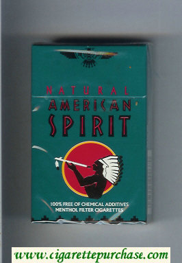 Discount Natural American Spirit Menthol green cigarettes hard box