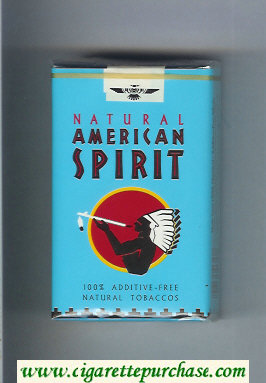 Discount Natural American Spirit Natural blue cigarettes soft box