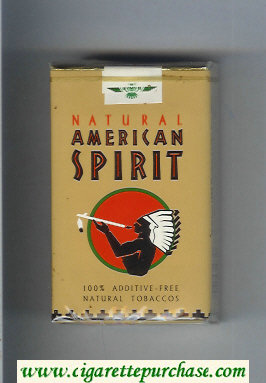 Discount Natural American Spirit Natural brown cigarettes soft box