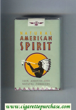 Discount Natural American Spirit Natural grey cigarettes soft box
