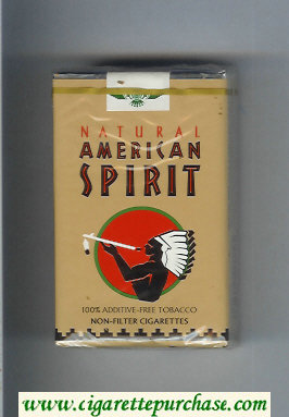 Discount Natural American Spirit Non-Filter brown cigarettes soft box