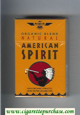 Discount Natural American Spirit Organic Blend Light orange cigarettes hard box