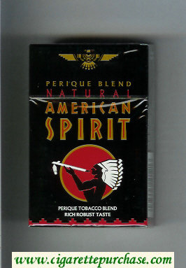 Discount Natural American Spirit Perique Blend Rich Robust Taste black cigarettes hard box