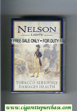 Nelson Lights cigarettes hard box