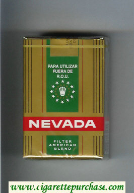 Nevada Filter American Blend gold and green and red cigarettes soft box