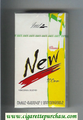 Discount New Slims 100s Virginia Blend cigarettes hard box