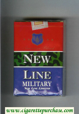 New Line Military American Blend cigarettes soft box