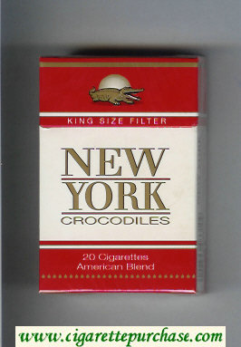 New York Crocodiles American Blend cigarettes hard box