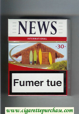News 30 International white and red cigarettes hard box