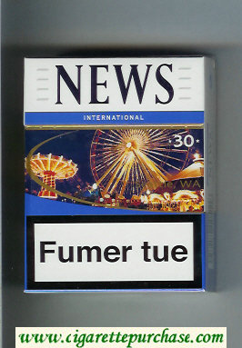 News 30 International white and blue hard box cigarettes