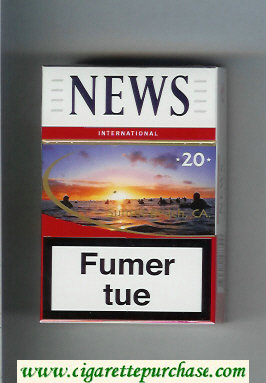 News 20 International white and red hard box cigarettes
