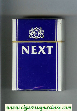 Discount Next blue and white cigarettes hard box
