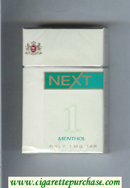 Discount Next Menthol white and green cigarettes hard box