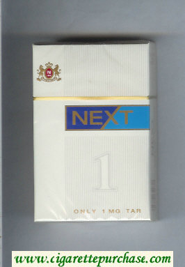 Discount Next white and blue cigarettes hard box