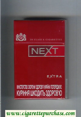 Discount Next Extra red cigarettes hard box