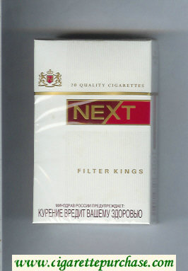 Discount Next Filter Kings white and red cigarettes hard box