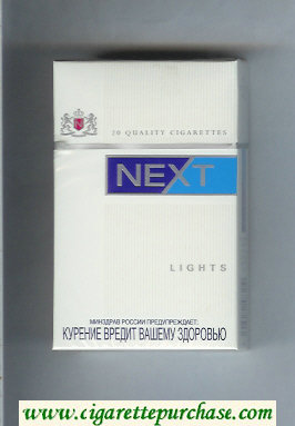 Discount Next Lights white and blue cigarettes hard box