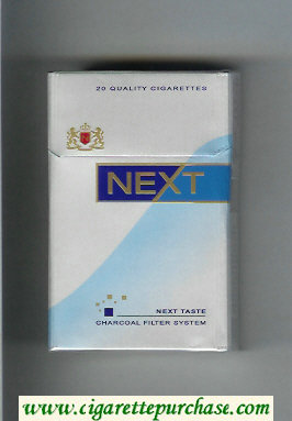 Discount Next Next Taste silver and light blue and blue cigarettes hard box