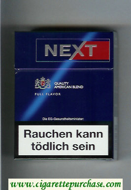 Discount Next 24 Quality American Blend Full Flavor blue and red cigarettes hard box