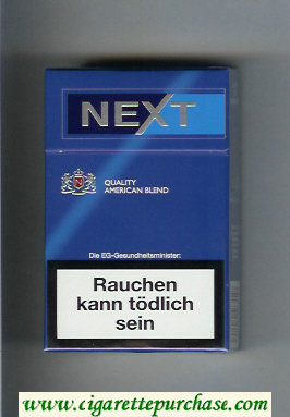 Discount Next Quality American Blend blue and light blue cigarettes hard box