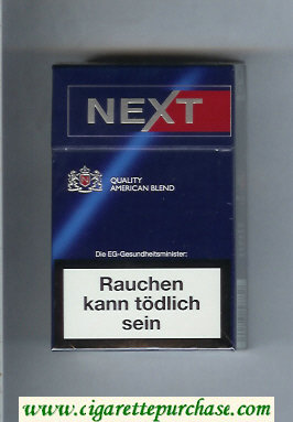 Discount Next Quality American Blend Full Flavor blue and red cigarettes hard box