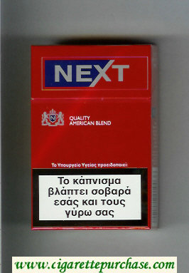 Discount Next Quality American Blend Full Flavor red and blue cigarettes hard box