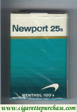 Discount Newport 25s Menthol 100s cigarettes soft box
