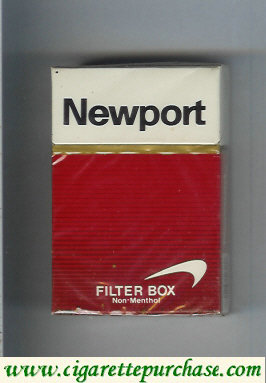 Newport Filter Non Menthol cigarettes hard box