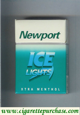 Discount Newport Ice Lights XTRA Menthol cigarettes hard box