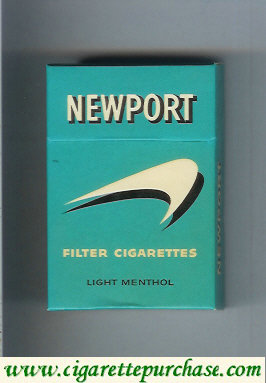 Newport Light Menthol old design Filter Cigarettes hard box