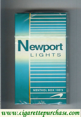 Discount Newport Lights Menthol green and white 100s cigarettes hard box