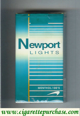 Discount Newport Lights Menthol green and white 100s cigarettes soft box