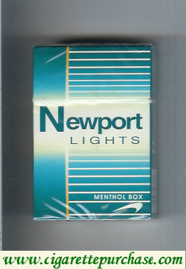 Newport Lights Menthol green and white cigarettes hard box
