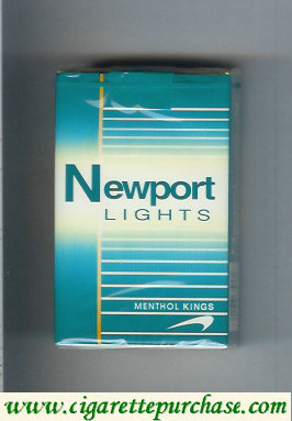 Discount Newport Lights Menthol green and white cigarettes soft box