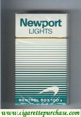 Discount Newport Lights Menthol white and green 100s cigarettes hard box