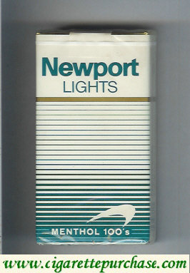 Discount Newport Lights Menthol white and green 100s cigarettes soft box