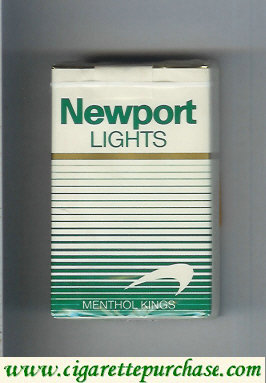 Newport Lights Menthol white and green cigarettes soft box