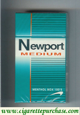 Discount Newport Medium Menthol 100s cigarettes hard box