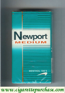 Discount Newport Medium Menthol 100s cigarettes soft box