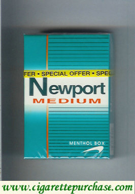 Discount Newport Medium Menthol cigarettes hard box