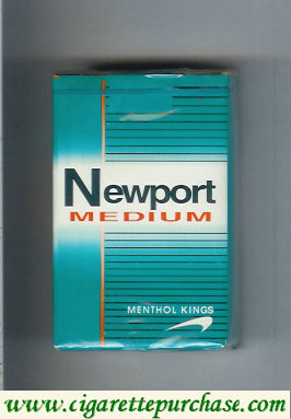 Discount Newport Medium Menthol cigarettes soft box