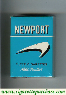 Newport Mild Menthol Filter Cigarettes hard box