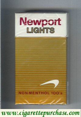 Discount Newport Non Menthol Lights 100s cigarettes hard box